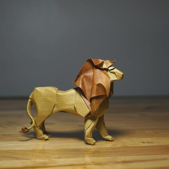 kids origami instructions easy: easy origami lion | 700x700