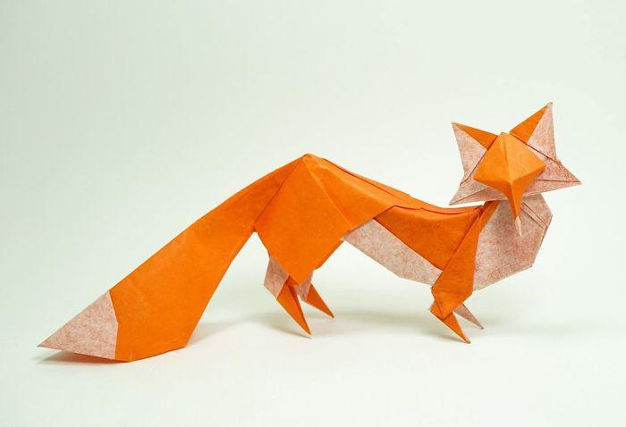 Origami FOX EASY - Yakomoga Origami easy tutorial - YouTube | 478x700