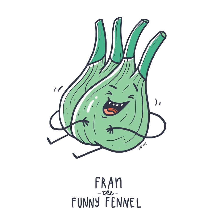 I Show Quirky Vegetable Personalities Through Alphabet Letters (25 Pics)