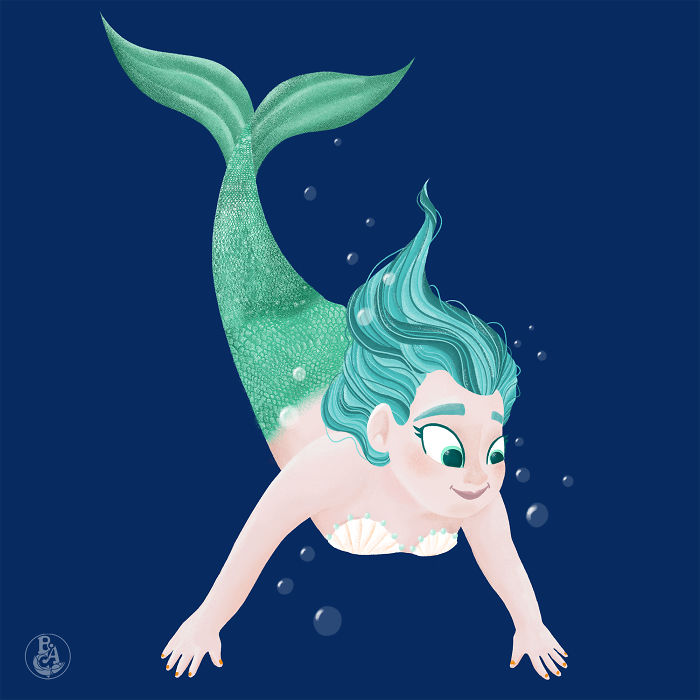 Young Mermaid Girl