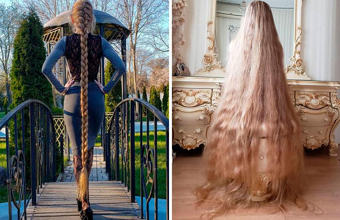 Esta mujer se niega a cortarse el pelo desde los 5 años, ahora tiene 34 y parece Rapunzel