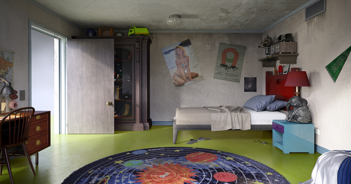 Interior Designers Show How 6 Iconic Cartoon Characters Bedrooms Would Look In Real Life Bored Panda