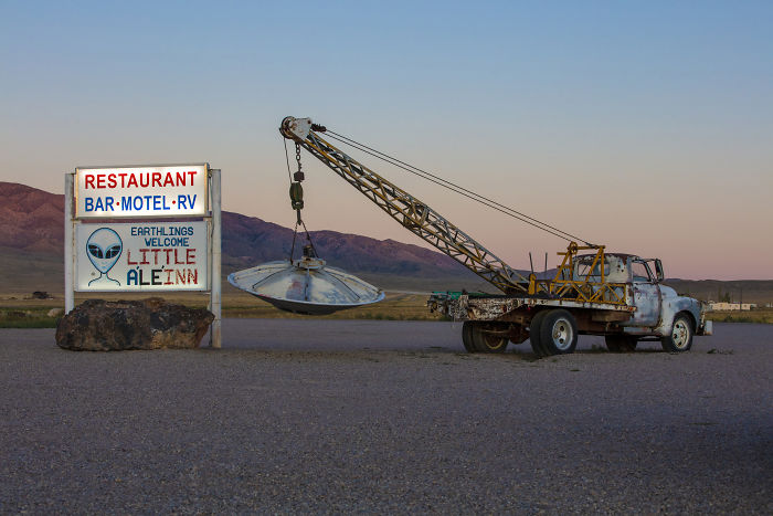 Outside Of The Little A'le'inn In Rachel, Nevada