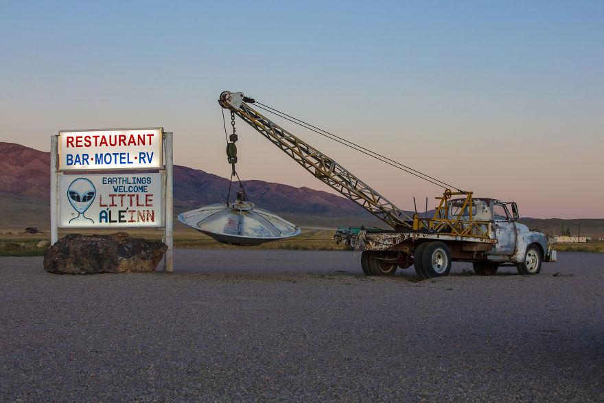 Outside Of The Little A'le'inn In Rachel, Nevada