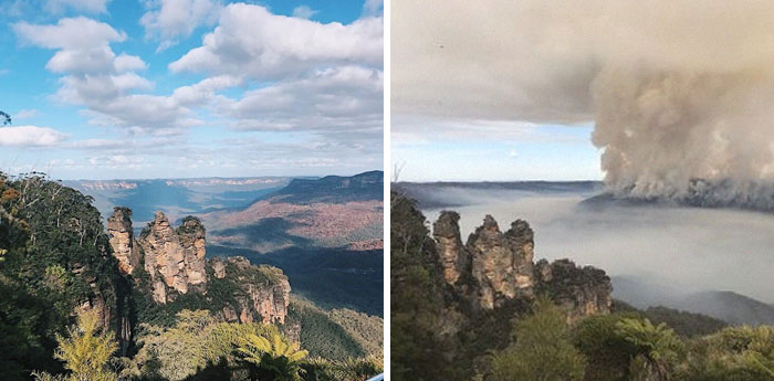 Blue Mountains, Australia - Before & After