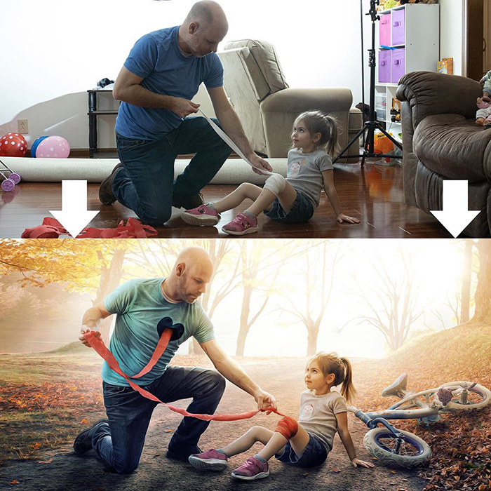 Artist Shares Before And After Images To Show How Photoshop Helps Him Create Surreal Photos