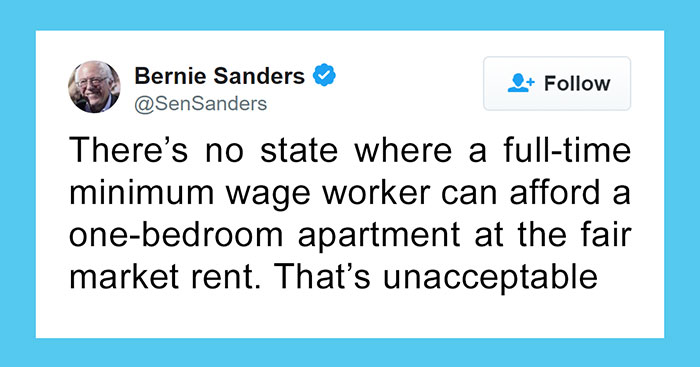 This Person Tries To Fact Check Bernie Sanders For Saying No One Can Afford An Apartment On Minimum Wage, Gets Shut Down