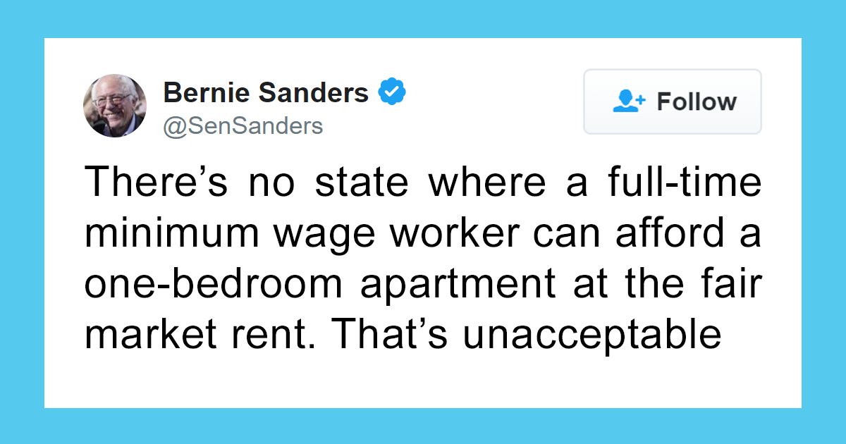 Someone Attacks Bernie Sanders For Saying No One Can Afford An Apartment On Minimum Wage, Gets Shut Down With