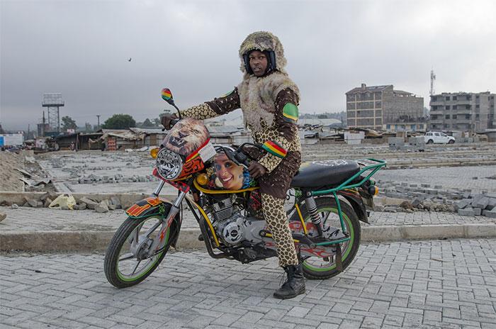 7 Eccentric Costumed Motorbike Taxi Drivers In Nairobi