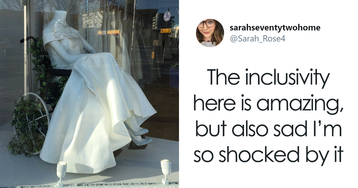 Bridal Shop Goes Viral For Putting Up A Wheelchair-Bound Mannequin