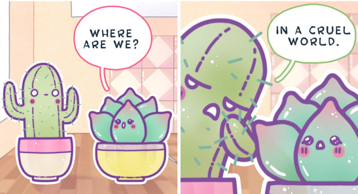 I Created Cute Comics About A Little Cacti