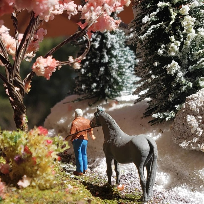 I Created A Ho Scale Scene With Spring And Winter