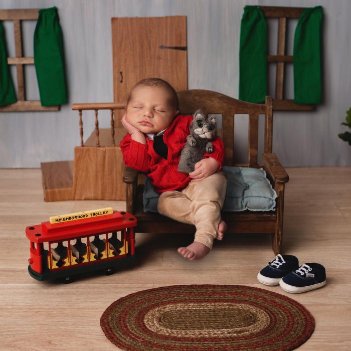 My Mister Rogers Newborn Photoshoot