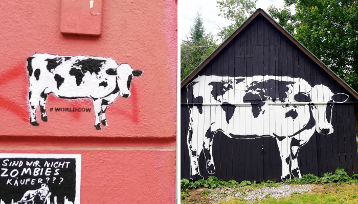 I'm Asking Street Artists To Paint World Cows Around The World