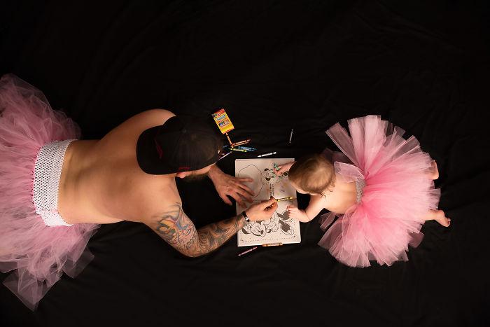 Fotózási tipp lányos apukáknak: Apa és lánya balett tütüben