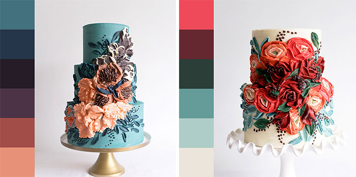 My Friends Sent Me Pictures And I Decorated Cakes Based On The Color Palettes Of Those Pictures (40 Pics)