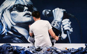 Artist Uses Denim To Create Realistic Celebrity Portraits (15 Pics)