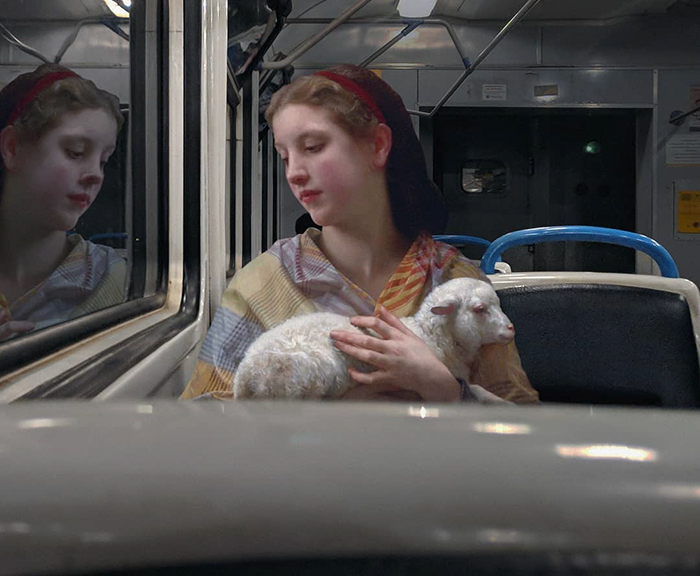 Artist Puts People From Classical Paintings Into The Modern World, And The Result Is Surprisingly Fitting (42 New Pics)