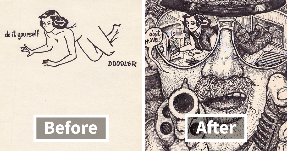 Artist Takes A Doodle Challenge And Creates 35 Incredibly Creative Illustrations
