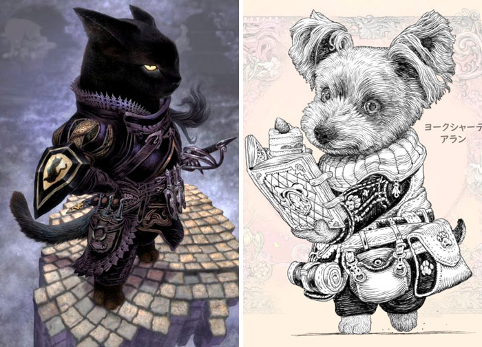 22 Noble Doggo Knights Illustrations By A Japanese Artist