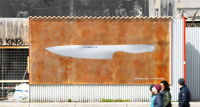 Rust Free Knife Ad In Vienna, Austria