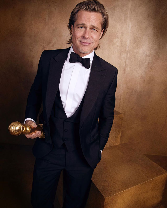 """Brad Pitt, Best Performance By An Actor In A Supporting Role In Any Motion Picture, """"Once Upon A Time ... In Hollywood"""""""