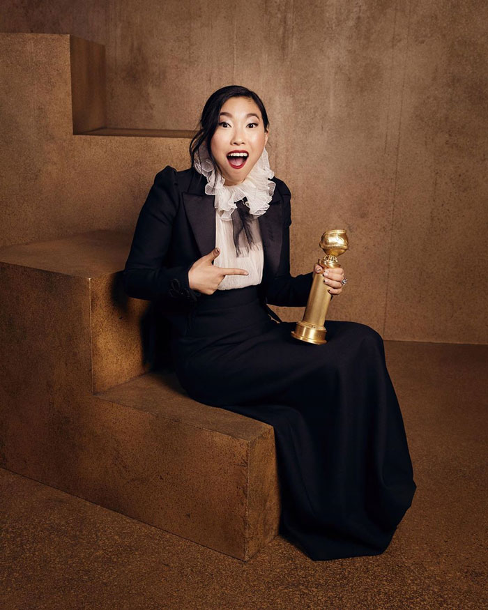 """Awkwafina, Best Performance By An Actress In A Motion Picture, Musical Or Comedy, """"The Farewell"""""""