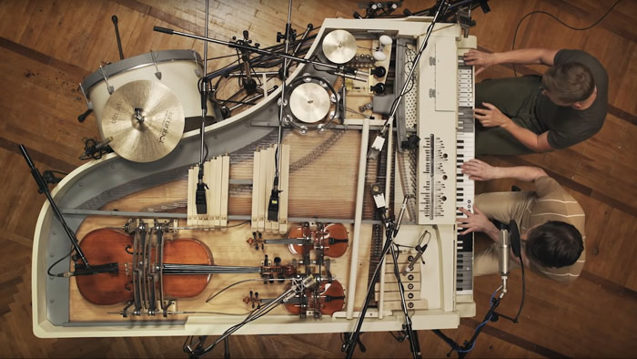 This Indie Rock Band Spent 3 Years Building An Incredible 20-Piece Hybrid Instrument To Be Played By 2 Guys