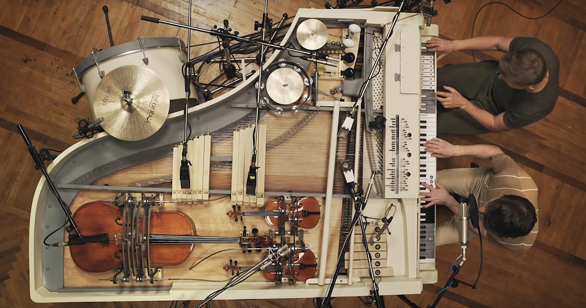 This Ukrainian Band Packed 20 Instruments Into One Vintage Piano And Created An Incredible Hybrid Orchestra