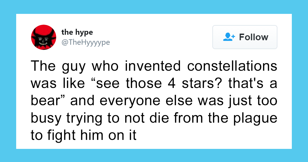 People Try To Imagine What The Inventors Of Various Things Were Thinking In 52 Tweets
