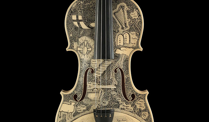 I Spent Over 4 Years Illustrating Dante's Inferno On Musical Instruments And Here's How It Looks On Violins