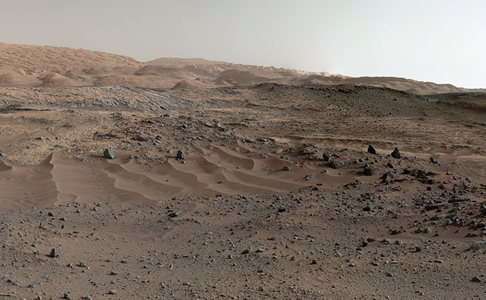Curiosity Rover's View Of Alluring Martian Geology
