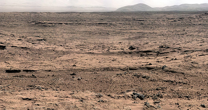 View From 'Rocknest' Position Of Curiosity Mars Rover