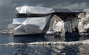 After The Iconic Azure Window In Malta Collapsed, This Russian Architect Proposes A Flashy Mirrored Building In Its Place