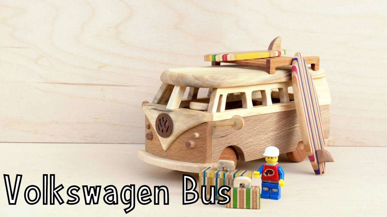 I Made This Volkswagen Bus T1 Out Of Wood!