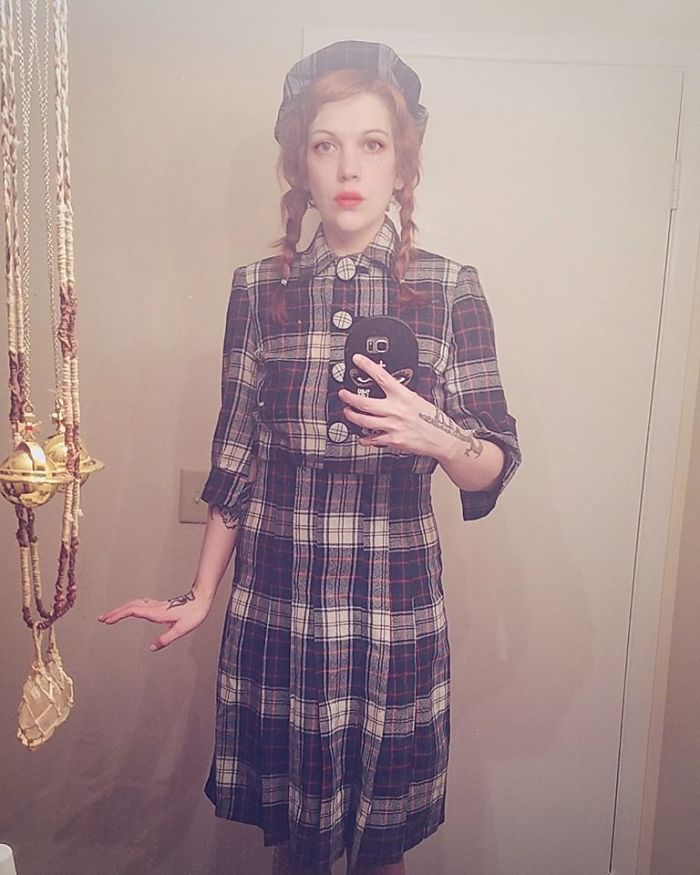 My Grandmother Passed This Year And My Aunt Was Kind Enough To Give Me Her School Uniform From The 1940s. It Fits! I Feel Very Proper