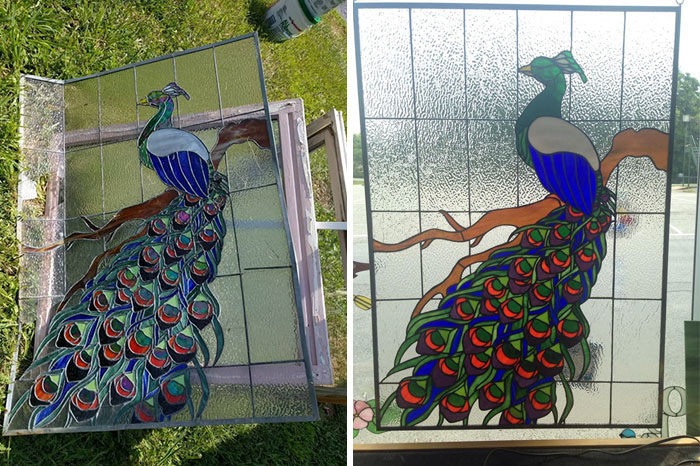 I Saw This Stunning Piece Of Stained Glass On The Side Of The Road Off Route 9 In Berkeley Springs, WV. I Turned Around Because I Couldn't Just Leave It There