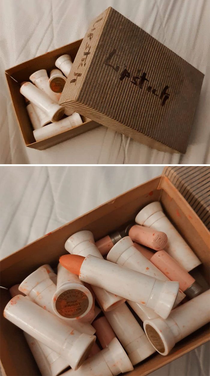 This Is A Box Of Mortuary Lipsticks (Make Up That Was Used On The People Being Prepared For Burial)