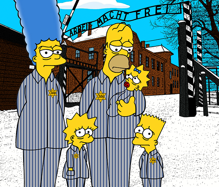 'The Simpsons Go To Auschwitz' Is This Artist's Call To Reflection For New Generations