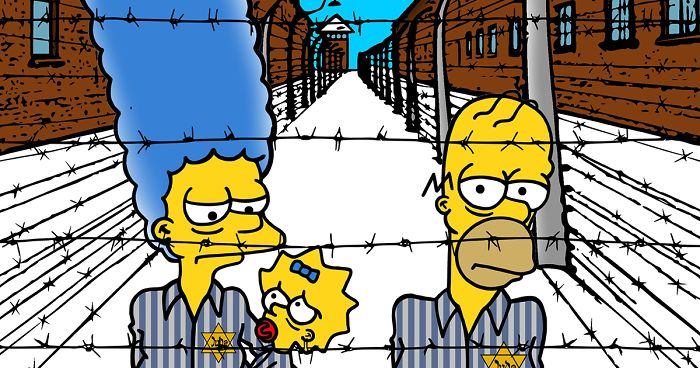 Artist's Controversial 'Simpsons Go To Auschwitz' Is His Way Of Reflecting The Holocaust Horrors