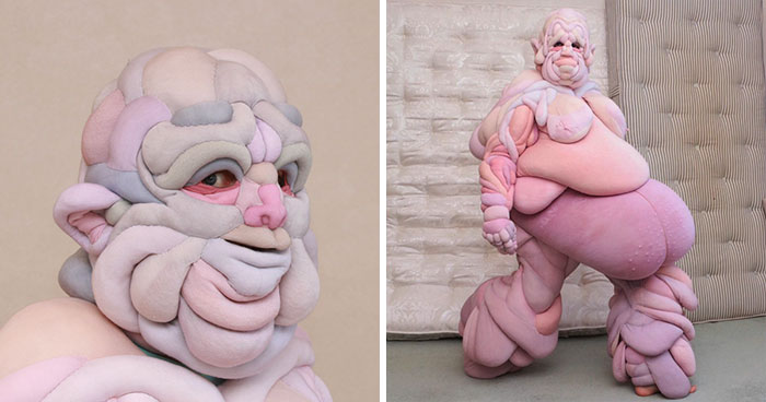 Artist Creates Squishy Flesh Suits And It's Definitely Not For Everyone (19 Pics)