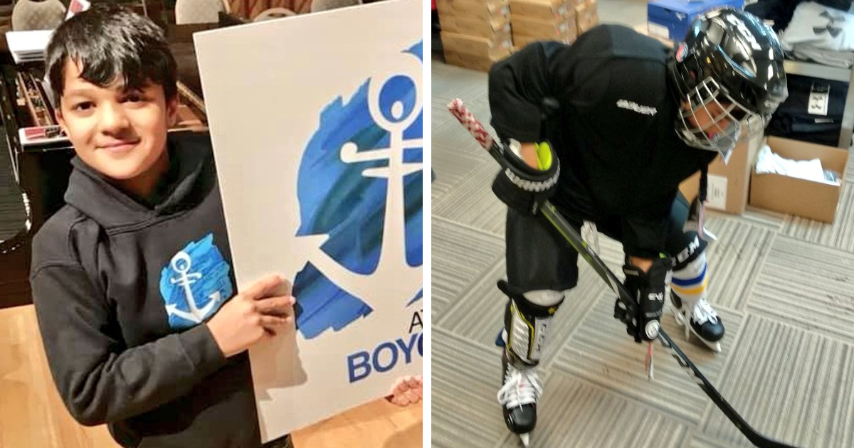 Canadians Raise Funds To Buy Hockey Gear For A Syrian Refugee Boy Who Has Never Played The Game - bored panda