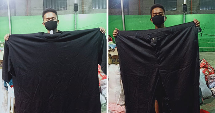 30 Funny Pics Of Filipinos Dressed Up In 'Unsuitable' Donated Clothes At A Volcano Evacuation Center