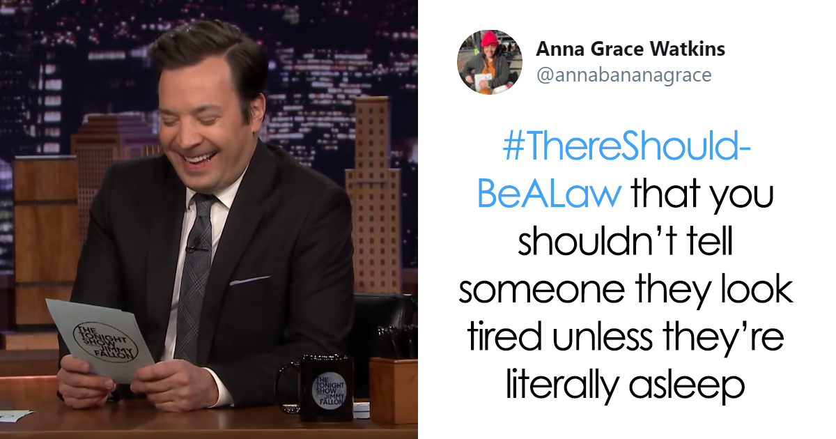 Jimmy Fallon Asks People What Funny Or Weird Rule Should Be Made Into A Law, And They Deliver (58 Tweets)