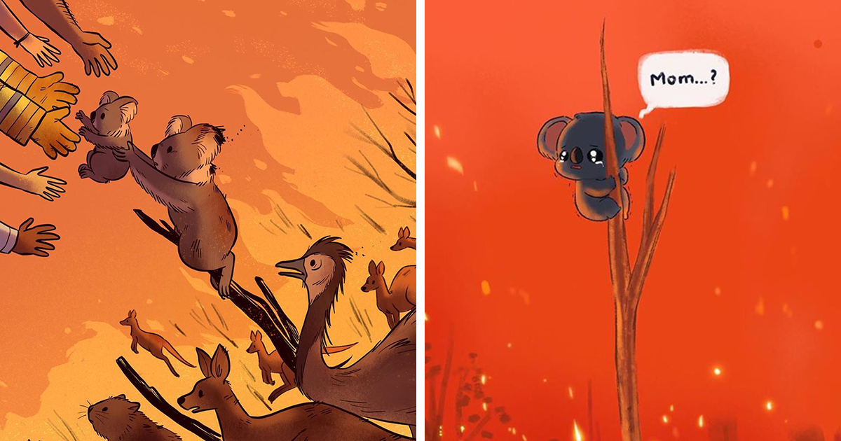 30 Artists Pay Respect To Animals Suffering In The Australian Bushfires