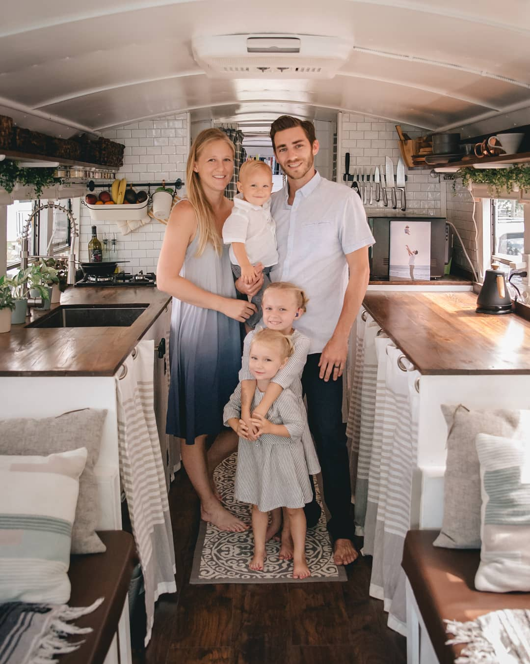 Family Of 5 Live And Travel In DIY Bus Conversion, Going Debt Free.