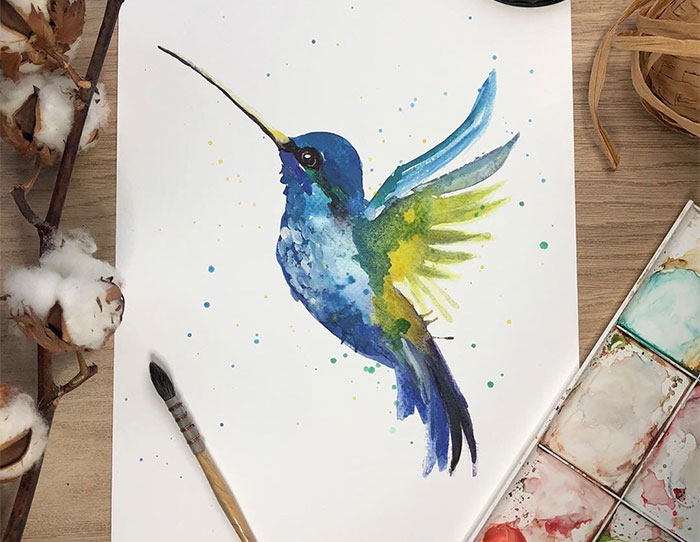 I Challenge Traditional Watercolor Styles By Creating These Paintings (41 Pics)