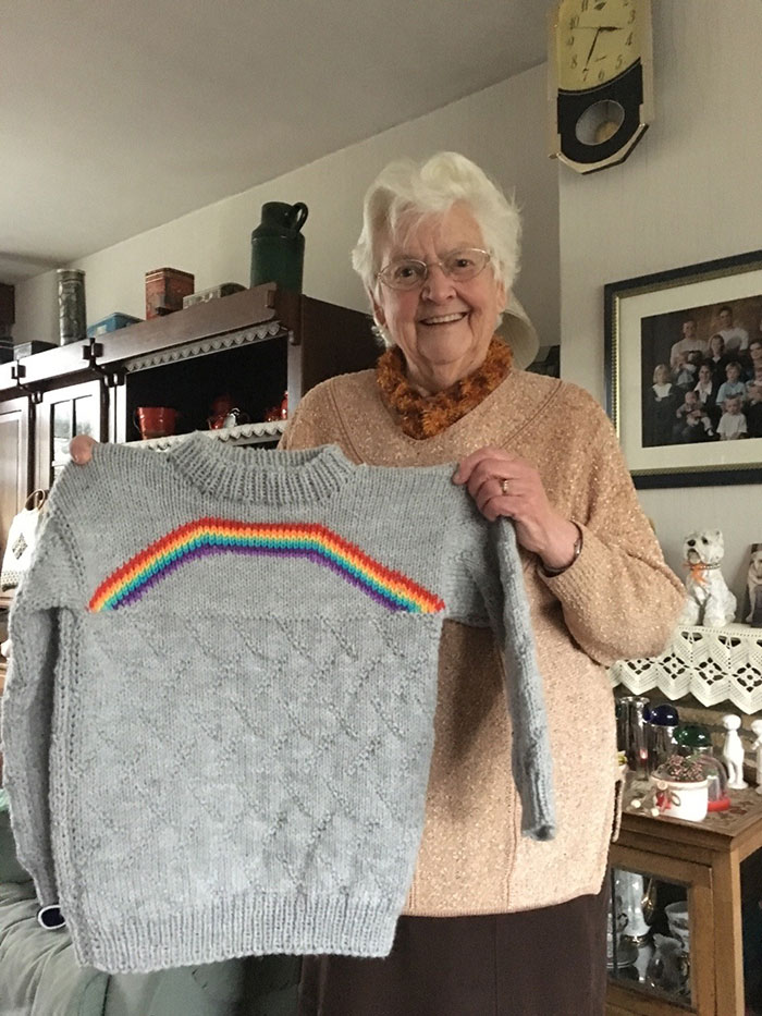 I Told My Grandma I Was Bisexual A Few Weeks Ago And Today She Gave Me This. My Grandma Made Me A Rainbow Sweater