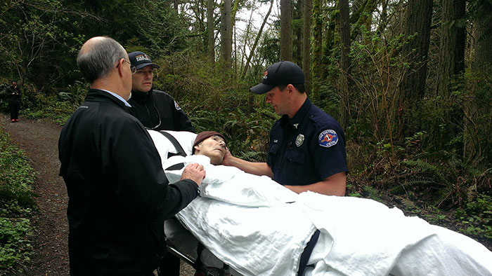 Firefighters Roll Dying 62-Year-Old Forest Ranger Through The Woods One Last Time