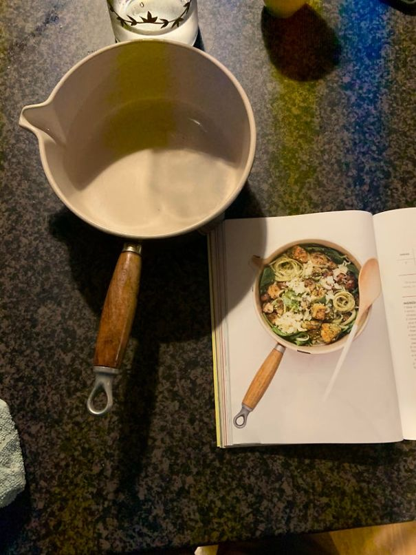 """We have the same saucepan as this cookbook"""